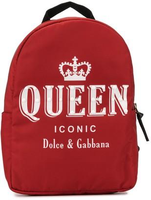 Dolce & Gabbana TEEN queen print backpack