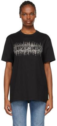 Givenchy Black Rhinestone Logo Masculine T-Shirt