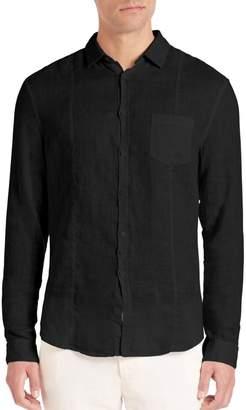 John Varvatos Slim-Fit Linen Button-Down Shirt
