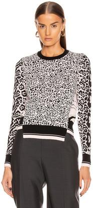 Stella McCartney Animal Sweater in Pink & Black   FWRD