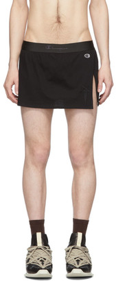 Rick Owens Black Champion Edition Cotton Shorts