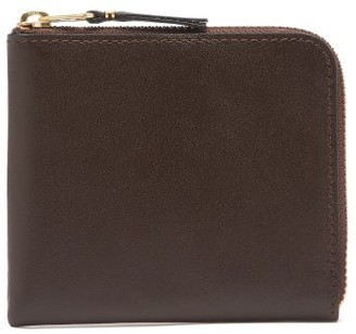 Comme des Garcons Zip-around Grained-leather Wallet - Brown