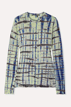 Proenza Schouler Tie-dyed Cotton-jersey Top - Blue