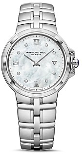 Raymond Weil Parsifal Diamond Mother-of-Pearl Watch, 30mm