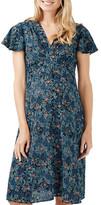 Topshop Ditsy Floral Print Midi Dress (Maternity)