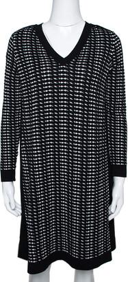 M Missoni Monochrome Textured Knit Shift Dress S