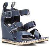 Balenciaga Leather wedge sandals