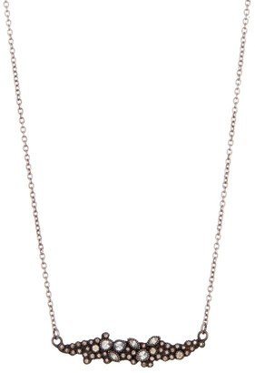 Armenta New World Sterling Silver Cluster Bar Stone Pendant Necklace