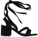 Full Circle Womens Block Heel Strap Sandals Shoes Casual Summer Textile