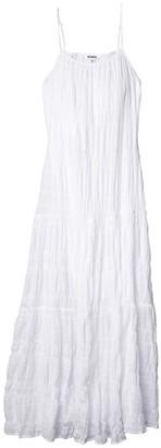 BB Dakota Roman Holiday Puckered Cotton Voile Tent Dress (Optic White) Women's Dress