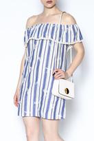 Everly Striped Off Shoulder Dress