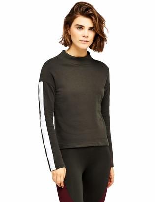 Aurique Amazon Brand Women's Side Stripe Sweatshirt