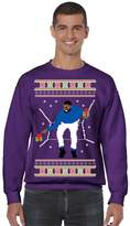 Allntrends Men's Crewneck 1-800 Hotline Bling Ugly Christmas Sweater (S, )