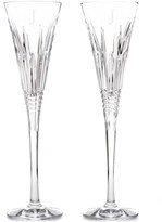 Waterford Lismore Diamond Monogram Toasting Flutes Pair, Block