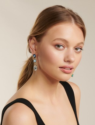 Forever New Hayley Stone and Drop Earrings - Blue - 00