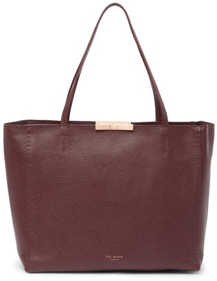 Ted Baker Caullie Bow Detail Leather Shopper