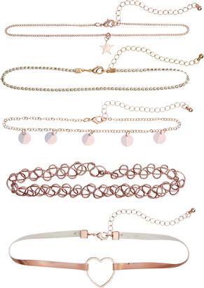 Capelli New York 5-Piece Choker Necklace Set