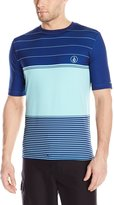 Volcom Men's Sub Stripes Short Sleeve Rashguard