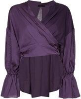 Aula panelled wrap around blouse