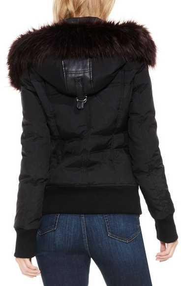 Vince Camuto Hooded Down Bomber Jacket