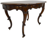 One Kings Lane Vintage 19th-C. French Rosewood Center Table - Countryside Antiques - brown/brass