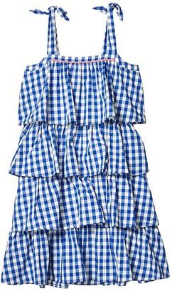 crewcuts by J.Crew Poplin Dress (Toddler/Little Kids/Big Kids) (White Sapphire) Girl's Clothing