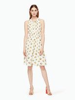 Kate Spade Orangerie crepe tie front dress