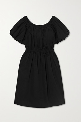 Molly Goddard Honey Cotton Mini Dress - Black