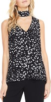 Vince Camuto Animal Whispers Mock-Neck Top