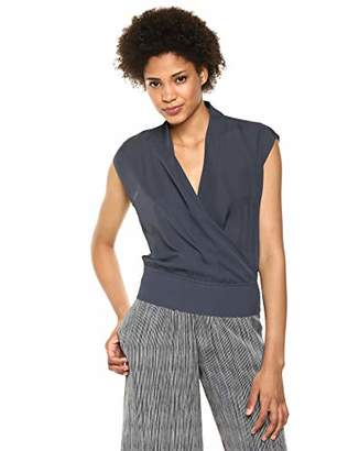 Theory Women's Sleevless Draped Combo Top