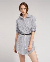 Long Striped Shirt w/ Belt