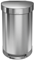 Simplehuman 45 Litre Semi-round Step Can Brushed Stainless Steel + Custom Fit Liners Code J 60 Pack