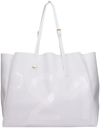 N°21 N.21 Tote In White Leather