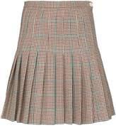 Off-White Off White pleated checked mini skirt