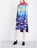 Mary Katrantzou Hampton silk-twill shirt dress