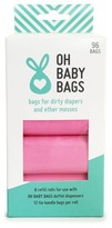 Oh Baby Infant Bags Set Of 8 Wet Bag Refill Rolls - Pink