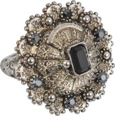 Alexander McQueen Brass Jewelled ring