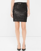 White House Black Market Black Sequin Pencil Skirt