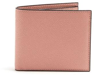 Valextra Bi Fold Leather Wallet - Mens - Pink