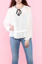Line & Dot Tikk Peasant Top
