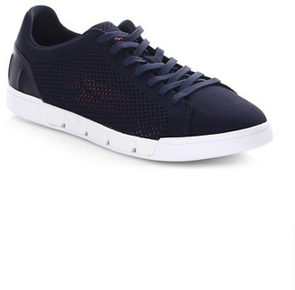Swims Tennis Cupsole Leather Sneakers