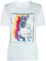 Paul Smith Rabbit Shadow print colour block T-shirt