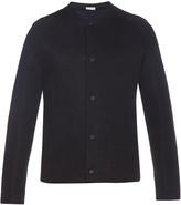 Balenciaga Double-faced wool-blend jersey bomber jacket
