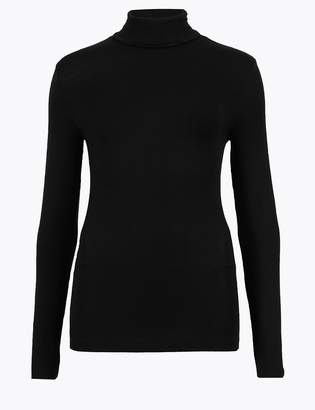 M&S CollectionMarks and Spencer Heatgen Thermal Polo Neck Top