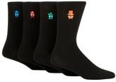 Red Herring Pack Of Four Black Faces Socks