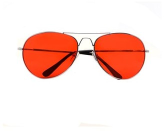 Pop Fashionwear Classic Aviator Color Lens Sunglasses Small Size Spring Hinge Temple 2480