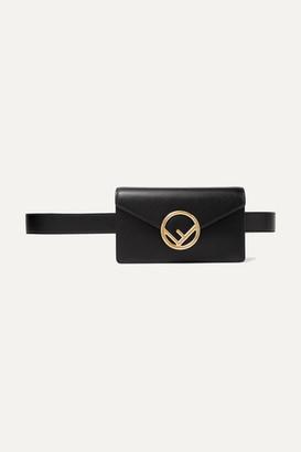 Fendi Textured-leather Belt Bag - Black