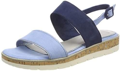 Marco Tozzi Women's 28618 Sling Back Sandals, (LT. Blue Comb 876)