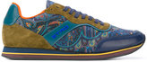 Etro paisley panel lace-up sneakers - men - Calf Leather/Suede/Polyester/rubber - 40