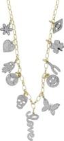 Sydney Evan Mini Pave Charm Necklace